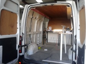 pizza mobile catering van conversion - before